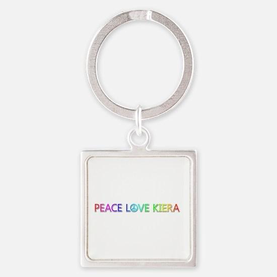 Peace Love Kiera Square Keychain