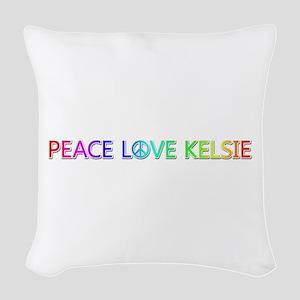 Peace Love Kelsie Woven Throw Pillow