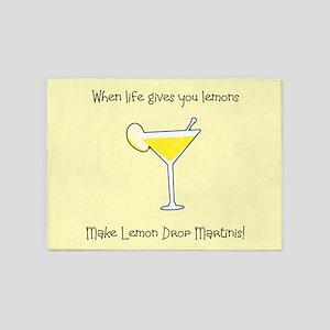 Lemon Drop Martinis 5'x7'Area Rug