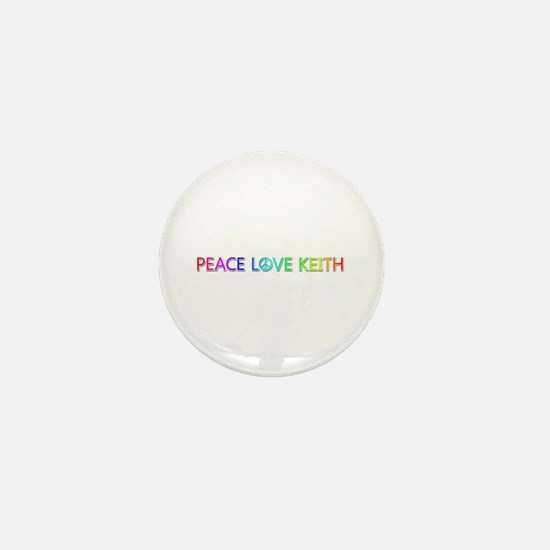 Peace Love Keith Mini Button