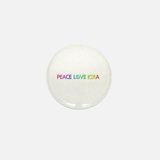 Peace Love Kira Mini Button