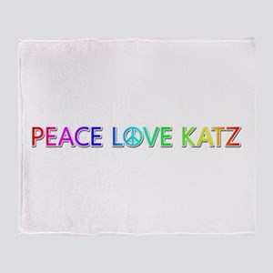 Peace Love Katz Throw Blanket