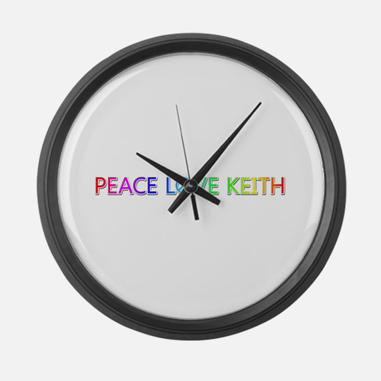 Peace Love Keith Large Wall Clock