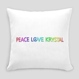 Peace Love Krystal Everyday Pillow