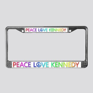 Peace Love Kennedy License Plate Frame