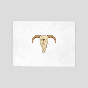 Bull Skull 5'x7'Area Rug
