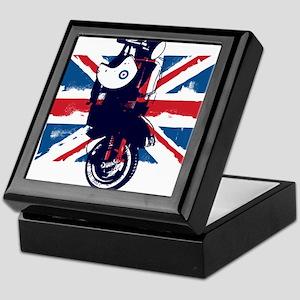Union Jack Scooter Keepsake Box