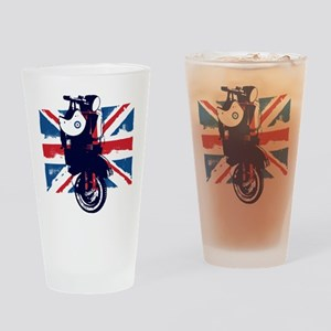 Union Jack Scooter Drinking Glass