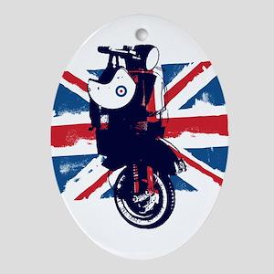 Union Jack Scooter Oval Ornament