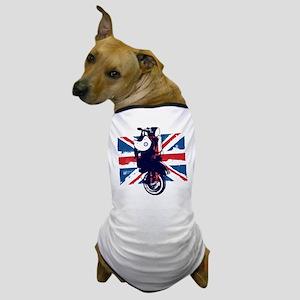 Union Jack Scooter Dog T-Shirt