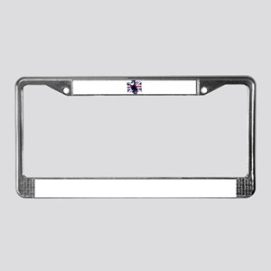 Union Jack Scooter License Plate Frame