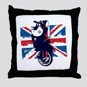 Union Jack Scooter Throw Pillow