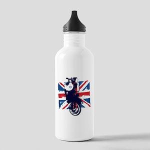 Union Jack Scooter Water Bottle