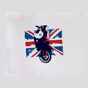 Union Jack Scooter Throw Blanket