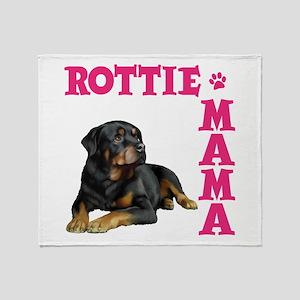ROTTIE MAMA Throw Blanket