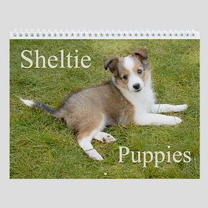 Shetland Sheepdog - Sheltie Puppies Wall Calendar
