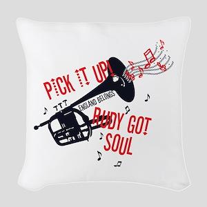 Rudy Got Soul Woven Throw Pillow