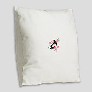 Rudy Got Soul Burlap Throw Pillow