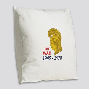 The WAC Years Burlap Throw Pillow
