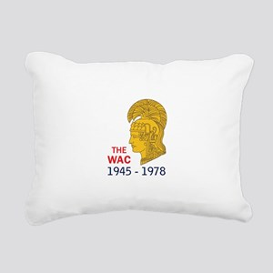 The WAC Years Rectangular Canvas Pillow