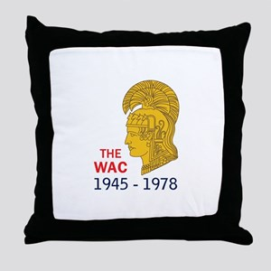 The WAC Years Throw Pillow
