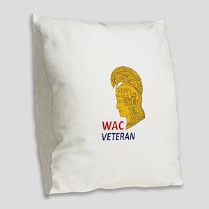 WAC Veteran Burlap Throw Pillow
