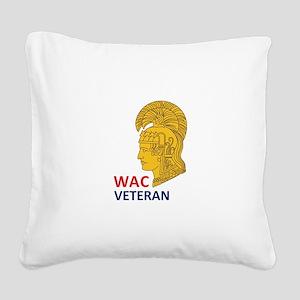 WAC Veteran Square Canvas Pillow