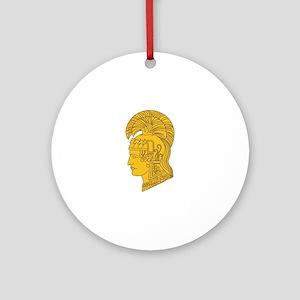WAC Athena Round Ornament