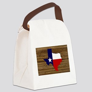 Great Texas Dk Barn Wood Canvas Lunch Bag