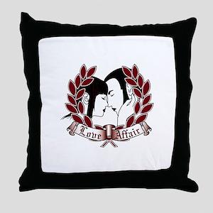 Skinhead Love Affair Throw Pillow