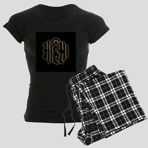 The word Ahimsa glowing in t Women's Dark Pajamas