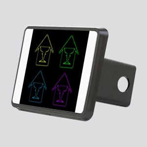 Glowing house with face fo Rectangular Hitch Cover