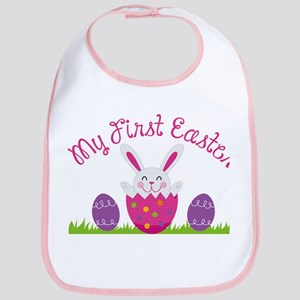 Girl's First Easter Baby Bib