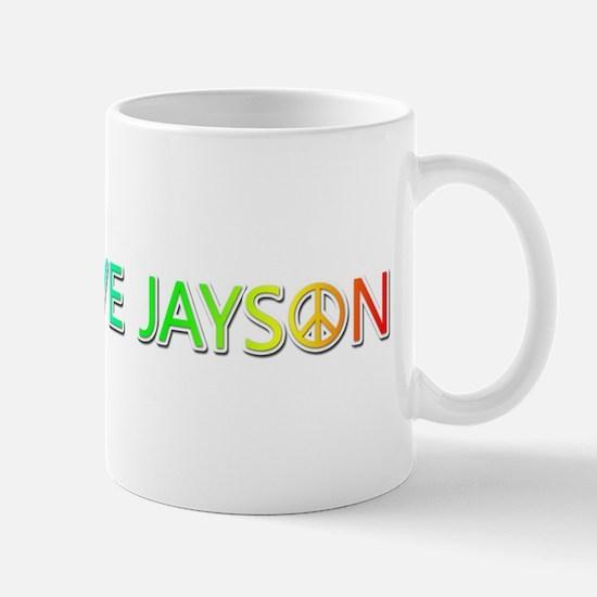 Peace Love Jayson Mugs