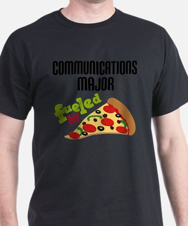Communications Major Fueled by Pizza T-Shirt