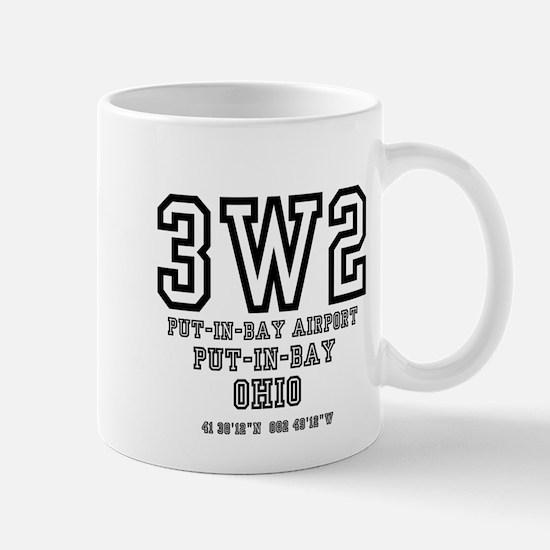 AIRPORT CODES - 3W2 - PUT IN BAY, OHIO Mugs