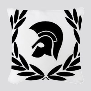 Trojan Laurel Leaf Woven Throw Pillow