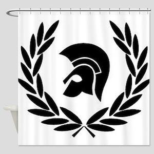 Trojan Laurel Leaf Shower Curtain