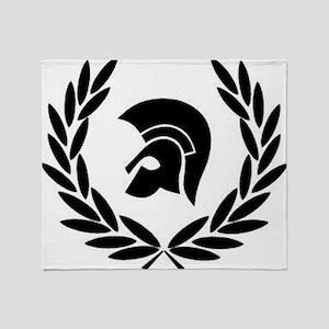 Trojan Laurel Leaf Throw Blanket