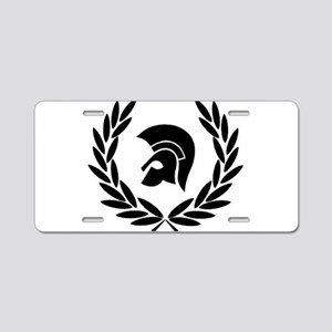 Trojan Laurel Leaf Aluminum License Plate