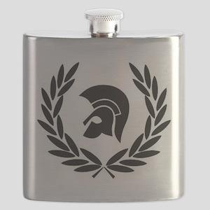 Trojan Laurel Leaf Flask