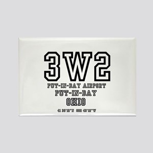 AIRPORT CODES - 3W2 - PUT IN BAY, OHIO Magnets