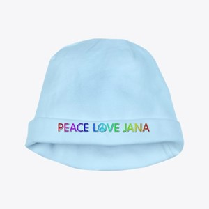 Peace Love Jana baby hat