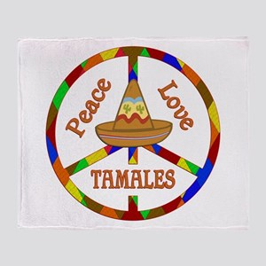 Peace Love Tamales Throw Blanket