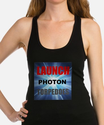 Launch Photon Torpedoes Racerback Tank Top