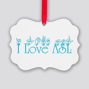 I love ASL Ornament