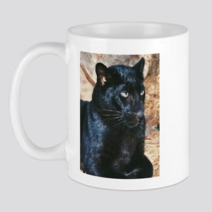 Black Leopard Portrait Mug