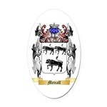 Metcalf Oval Car Magnet
