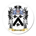 Messenger Round Car Magnet