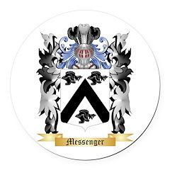 Messenger Round Car Magnet